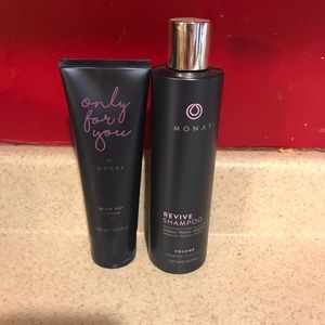 Monat Revive shampoo and blow out cream